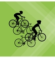 Flat of bike lifesyle design vector image