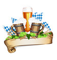 for a beer festival vector image vector image