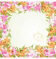 frame floral border festive background vector image vector image