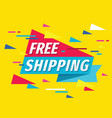 free shipping - concept promotion banner design vector image
