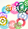 Gear wheels abstract modern background vector image
