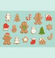 ginger bread cookie in various shape vector image