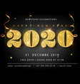 golden luxury text 2020 happy new year vector image vector image