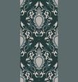 green vintage pattern vector image