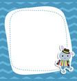 greeting card with cartoon rabbit greeting card vector image vector image