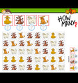 how many cartoon dogs counting game vector image vector image