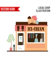 Ice cream detailed flat design cafe icon vector image