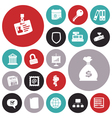 icons for business and job vector image vector image