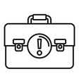 leather case innovation icon outline style vector image vector image