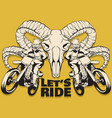 lets ride quote typographical background hand vector image