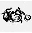 lettering Fresh vector image