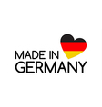 Made in Germany symbol with the heart vector image vector image