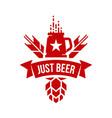 modern round craft beer drink logo sign for bar