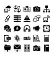 network and communication icons 7 vector image vector image