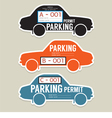 Parking Permit Card vector image vector image