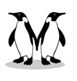 penguin friendship symbol loyalty vector image vector image