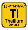 Periodic table element thallium icon vector image vector image