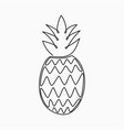 pineapple - one line drawing continuous line vector image