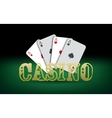 Poker cards Casino vector image