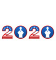 presidential election 0f usa 2020 register to vector image
