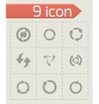 refresh icons set vector image
