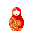 russian nesting doll matryoshka red luxury icon vector image vector image