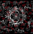 seamless background with gothic and mystic symbols vector image