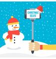 Selfie monopod in front of winter background vector image vector image