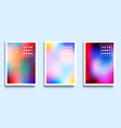 set a colorful gradient texture background vector image
