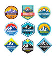 set adventure outdoor concept badges summer vector image vector image