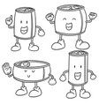 set of can cartoon vector image vector image