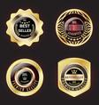 set of golden best seller badge vector image