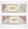 Set of horizontal banners wedding invitations with vector image vector image