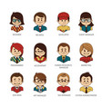 set of round people iconsavatars of office team vector image vector image