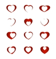 set symbol heart vector image