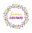 summer give away banner vector image vector image