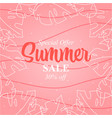 summer sale design banner abstract vector image vector image