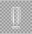 transparent beer glass on checkered background vector image