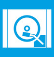 turntable icon white vector image vector image