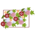 Typographical Background with flowers EPS10 vector image