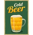 Vintage poster cold beer vector image vector image