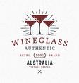 Wine Glasses Vintage Retro Design Elements for vector image