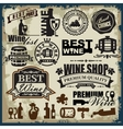 wine labels vector image vector image