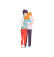 young man and woman hugging lovingly happy vector image vector image