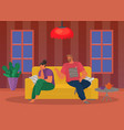 young people quarreling at home man and woman vector image vector image