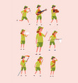 young scouts kids boys and girls adventure vector image vector image