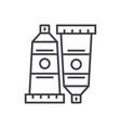 art paint tubes linear icon sign symbol vector image