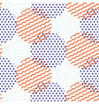 abstract geometric shapes dotted and striped vector image