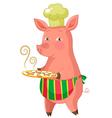 piggie with cookies vector image