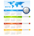 2013 Colourful Calendar vector image vector image